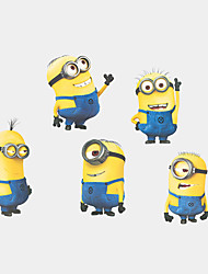 cheap -5 Minions Despicable Me Wall Stickers DIY Cartoon Fashion Children's Bedroom Wall Decals