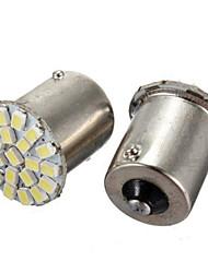 10pcs 1156 LED 22smd luce 1206 SMD segnale giro di ritorno auto luce principale della lampada (DC12V)