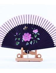 Purple Fan Frame Printing Fan Random Pattern(Set of 1)