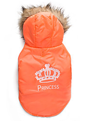 cheap -Cat Dog Coat Hoodie Dog Clothes Breathable Keep Warm Tiaras & Crowns Orange Costume For Pets