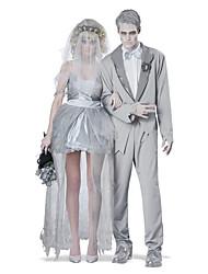 Scheletro/Teschio Fantasma Costumi da zombie Costumi da vampiro Sposa Costumi Cosplay Da coppia Uomo Donna Halloween Natale Carnevale