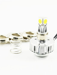 1pcs Dual Beam H4 LED Motorcycle Headlight Kit 24W 2500lm 3 COB Chips Bike Head Lamp Bulb 6500K & H4 Connector