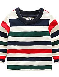 Jungen T-Shirt Lässig/Alltäglich Gestreift Baumwolle Herbst Winter Lange Ärmel Normal