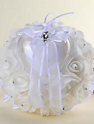 cheap -White 1 Ribbons Crystal Satin