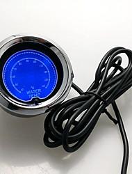 """economico -2 """"(52mm) 7 colori calibro della temperatura dell'acqua digitale LCD 40-140 temperatura c metro sensore / Autometer / auto / manometro"""