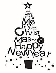 cheap -Wall Stickers Wall Decals Style Christmas Tree PVC Wall Stickers