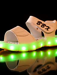 LED Light Up Shoes, Boy's Sandals Summer Sandals PU Casual Flat Heel  Black / Blue / Brown / White