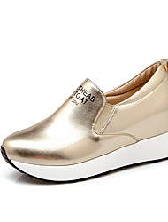 cheap -Women's Shoes Leatherette Spring Summer Fall Sneakers Walking Shoes Platform Round Toe for Casual Outdoor Gold Silver Blue Pink