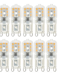 abordables -YWXLIGHT® 10pcs 4W 300-400 lm G9 LED à Double Broches T 14 diodes électroluminescentes SMD 2835 Intensité Réglable Décorative Blanc Chaud
