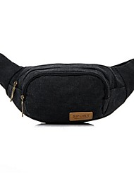 Men Bags Canvas Waist Bag for Casual Black Purple Brown Green Blue