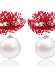 cheap -Imitation Pearl/Lace Earring  Drop Earrings Wedding/Party/Daily / Casual 1 pair