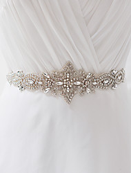 Satin Wedding Party/ Evening Dailywear Sash With Rhinestone Crystal Beading Appliques Pearls