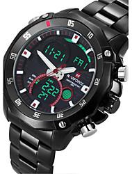 cheap -NAVIFORCE® Men's Military Sport Fashion Watch Japanese Quartz Analog-Digital LED/Calendar/Chronograph/Water Resistant/Dual Time Zones/Alarm Cool Watch
