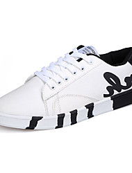 Running Shoes Men's Sneakers Spring / Fall Comfort Canvas Casual Flat HeelBlack / Blue / White Walking