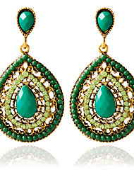 abordables -Pendientes 1pair / greenstud para mujer elegante estilo femenino clásico