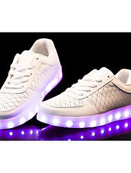 cheap -Women's Men's Sneakers Spring Fall Comfort Light Up Shoes PU Casual Flat Heel LED