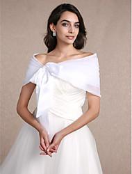 cheap -Sleeveless Organza Wedding / Party Evening Women's Wrap With Draping Shrugs