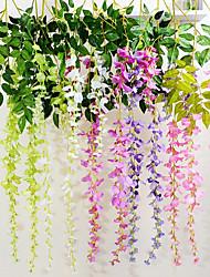 Недорогие -1шт красочный симулятор фиолетовый цветок ротанга украшения дома