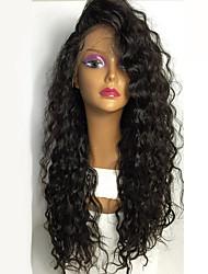 abordables -Peluca Lace Front Sintéticas Ondulado Amplio Pelo sintético Resistente al Calor / Para mujeres de color Negro Peluca Mujer Larga Encaje Frontal