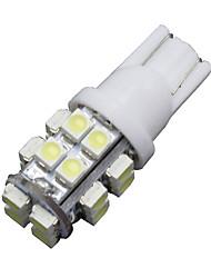 Недорогие -6 х T10 20-SMD LED 6000K Белый супер яркий автомобиль лампочка 194,168,2825, W5W нас