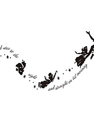 cheap -Peter Pan Wall Stickers Cartoon Wall Stickers Vinyl Removable Decals Films Murals Figure Stickers Home Decor