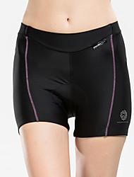 baratos -TASDAN Bermudas Acolchoadas Para Ciclismo Mulheres Moto Shorts Shorts Roupa interior Calças Roupa de Ciclismo Secagem Rápida Respirável