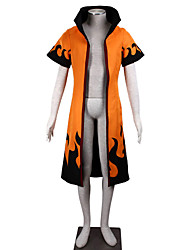 economico -Ispirato da Naruto Naruto Uzumaki Anime Costumi Cosplay Abiti Cosplay Monocolore Manica corta Cappotto Per Uomo