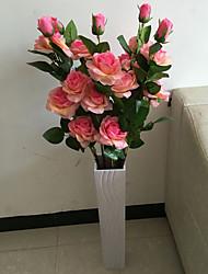 1 1 Une succursale Polyester / Plastique Roses Arbre de Noël Fleurs artificielles 42.271inch/115cm