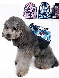 Chien Dog Paquet Animaux de Compagnie Transporteur Portable Camouflage Vert Bleu Rose