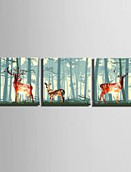 cheap -Landscape European Style, Three Panels Canvas Square Print Wall Decor Home Decoration