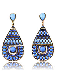New Fashion Bohemia Vintage Water Drop Earrings 5 Colors High Quality Long Earring For Women Jewelry