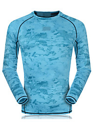 cheap -Unisex Crew Neck Running Shirt - Sky Blue, Red, Light Blue Sports Sweatshirt / Top Fitness, Gym, Workout Long Sleeve Activewear Quick Dry, Breathable, Compression Stretchy / Sweat-wicking