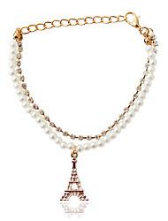 Bracelet Charm Bracelet Alloy / Imitation Pearl Others Fashion Jewelry Gift Gold / Beige,1pc