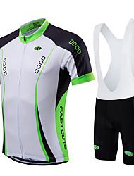 economico -Fastcute Maglia con salopette corta da ciclismo Per uomo Per donna Bambini Unisex Manica corta Bicicletta Salopette Felpa