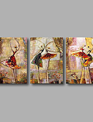 "cheap -Stretched (Ready to hang) Hand-Painted Oil Painting 60""x28"" Canvas Wall Art Modern Abstract Dance Girls Figure"