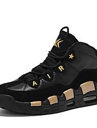 preiswerte -Unisex Schuhe PU Frühling Herbst Komfort Sneakers Rennen Schnürsenkel für Normal Silber Rot Golden