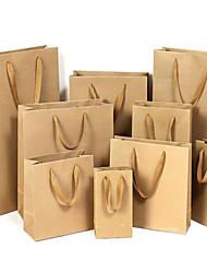 крафт-бумажные мешки мешок одежды мешок мешок подарка сумки универсальные сумки рекламные сумки подгонять пакет пять