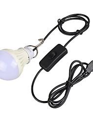 5W 4-pin Ampoules Globe LED A60(A19) 1 diodes électroluminescentes LED Haute Puissance Décorative Blanc Chaud Blanc Naturel 150-250lm