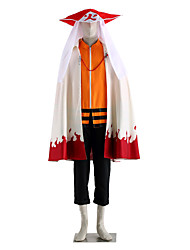 cheap -Inspired by Naruto Naruto Uzumaki Anime Cosplay Costumes Cosplay Suits Solid Long Sleeves Top Pants Cloak For Men's