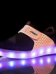 Chlapecké Tenisky Pohodlné Svítící boty Tyl Jaro Podzim Ležérní Turistika Pohodlné Svítící boty Kouzelná páska Plochá podrážkaČerná Šedá