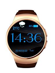 economico -Smart orologio micro sim card frequenza cardiaca monitor a schermo circolare contro orologio promemoria bluetooth perso