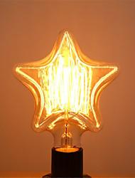 Pentagram Edison  40W E27 Light Bulbs Vintage Tungsten Lamp Antique Decorate Lighting for Pendant (AC220-240V)