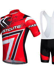 cheap -Fastcute Cycling Jersey with Bib Shorts Men's Women's Kid's Unisex Short Sleeves Bike Clothing Suits Bike Wear Quick Dry Moisture