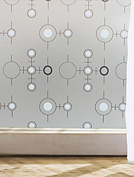 cheap -Window Film Window Decals Style Black And White Circle Matte PVC Window Film - (100 x 45)cm
