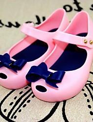 baratos -Para Meninas Sapatos PVC Verão Sandálias Laço para Fúcsia / Azul / Rosa claro
