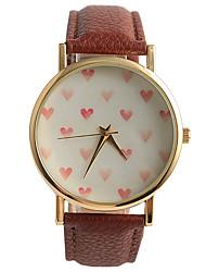 cheap -Women's Quartz Wrist Watch / Hot Sale PU Band Casual Fashion Brown