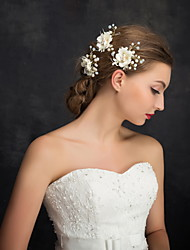cheap -Imitation Pearl Rhinestone Alloy Headwear Hair Pin with Floral 1pc Wedding Special Occasion Casual Headpiece