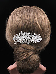 cheap -Women's Vintage Party Casual Silver Hair Comb
