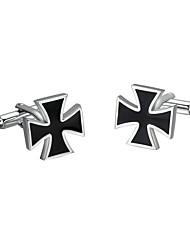 Недорогие -Запонка Галстук Заколка для галстука Медь Мода Запонки Черный и белый 2 шт.