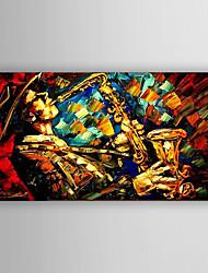 Hånd-malede Mennesker / Abstrakt Landskab Oliemalerier,Moderne Et Panel Canvas Hang-Painted Oliemaleri For Hjem Dekoration